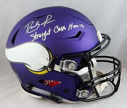 644a7c55 Randy Moss Autographed Helmet - F S SpeedFlex W Straight Cash W Auth - JSA  Certified -