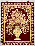 18''x24'' Indian Embroidered Zardozi Zardosi Wall Decorations Decoratives Hanging - Wall Hanged Jewel Carpet with Precious Stones and Golden Wires