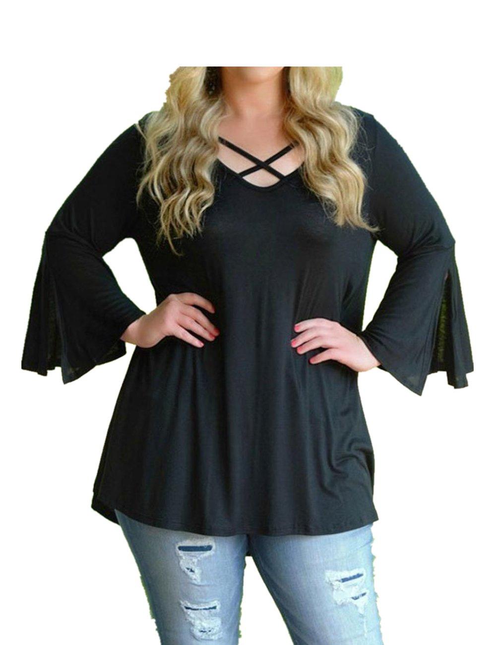 ropa de mujer en oferta talla grande camisetas manga larga mujer verano Switchali blusas de mujer