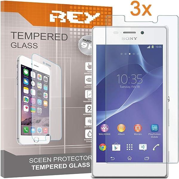 REY 3X Protector de Pantalla para Sony Xperia M2 / M2 Aqua ...