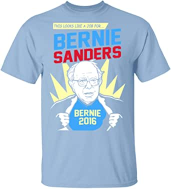 Super Hero Bernie Sanders T-Shirt Light Blue | Amazon.com