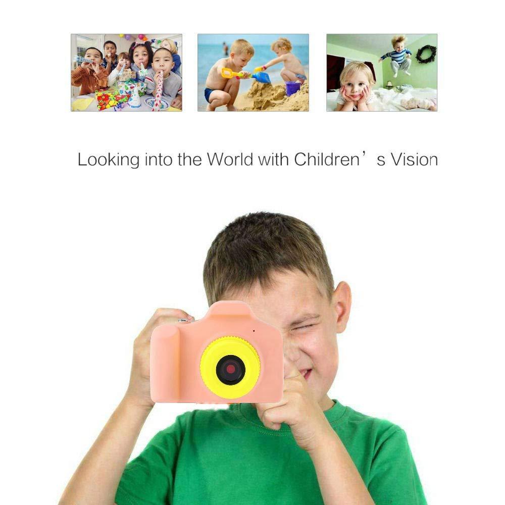 ZEERKEER HD Mini Digital Video Cameras,Kids Childrens Point and Shoot Digital Video Camera Recorders Cute Birthday for Kids (Pink) by ZEERKEER (Image #4)