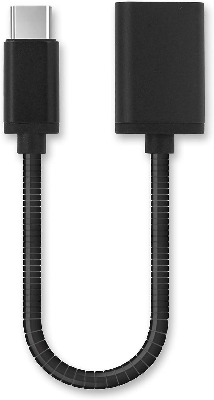 subtel® Cable OTG Compatible con Nintendo Switch/Switch Lite Adaptador OTG Tipo USB C Type C Cable Host USB OTG ALU Conector OTG Conexion OTG Negro