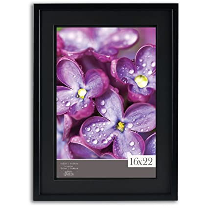 Amazon.com: Gallery Solutions 16x22 Black Wood Wall Frame with ...