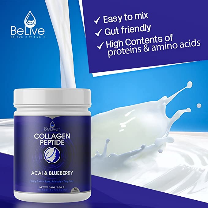 Collagen Peptides Powder Hydrolyzed Protein for Women and Men | Designed for Healthier Hair, Skin and Nail, Anti-Aging, Joint Support, Digestive ...