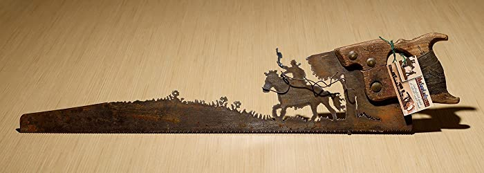 Amazon.com: Giddy Up horse rider design Hand (plasma) cut hand saw ...