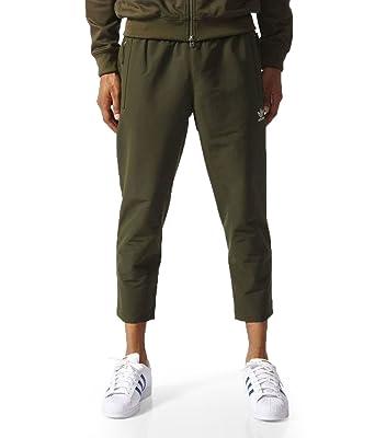 37cf69065e adidas Originals Men s 7 8 Length Woven Tapered Track Pants BR1815 - Green  - Medium