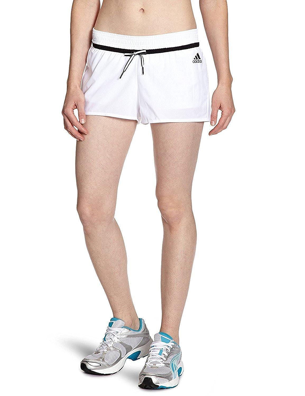 Adidasレディーステニスショート – ホワイト/ブラック B00939PNGKMedium
