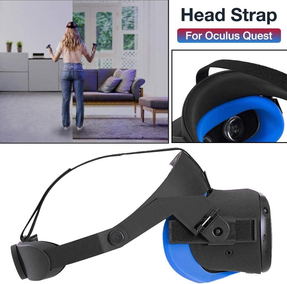 Headband Head Strap for Oculus Quest Durable VR Comfort Strap with Comfortable Sponge Pad Virtual Reality Accessories for Oculus Quest Virtual Reality Headset Headband