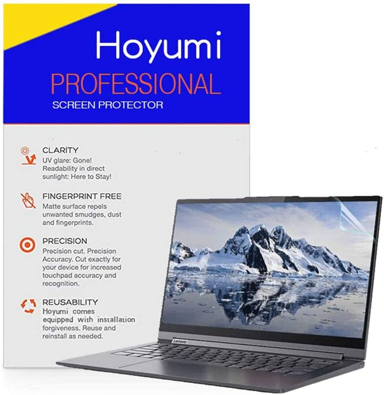 Hoyumi Screen Protector for Lenovo Yoga C940 14 Inch Laptop Precise Cutout Full Screen 2Pcs(Anti Glare Screen Protector, Transparent)