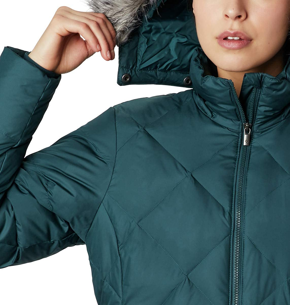 Winter Columbia Women/'s Icy Heights II Mid Length Down Jacket Water repellent /& Breathable