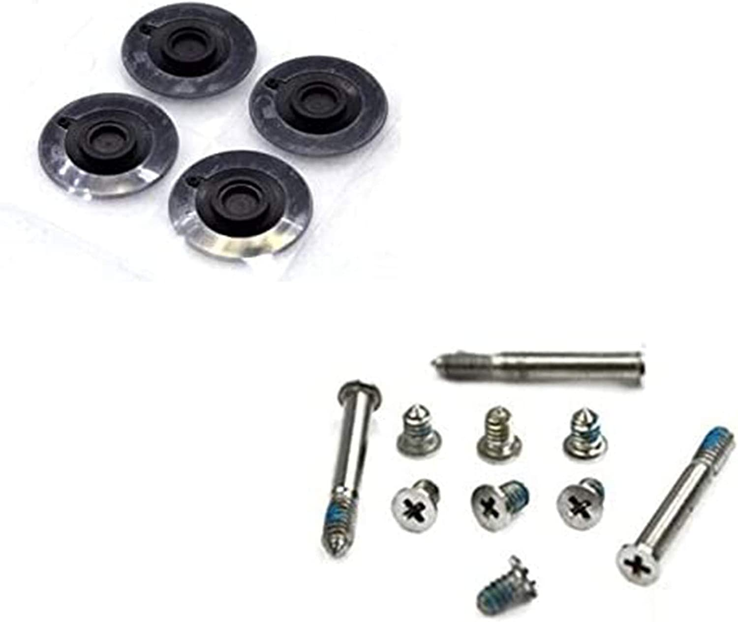 """Flywings Repair Replacement Screws for Unibody Apple Macbook Pro A1278 A1286 13"""" 15"""" 17"""" 1 Sets of 10, 4 x Rubber Case Foot Feet for Macbook Pro A1278 A1286 A1297 2009 2010"""