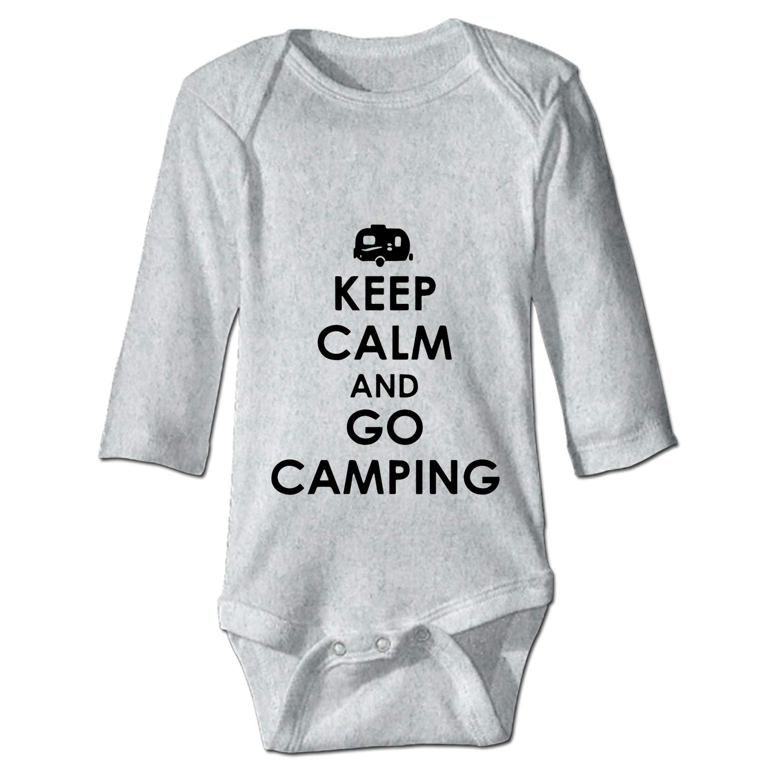 YSKHDBC Keep Calm and Boldly Go Onesies Long Sleeve Home Outfit for Baby Boys Girls