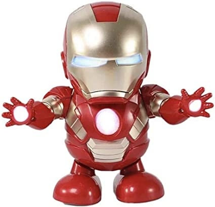 Iron Man Captain America Dance Hero Robot Action Figure Toy W// LED Light /& Sound