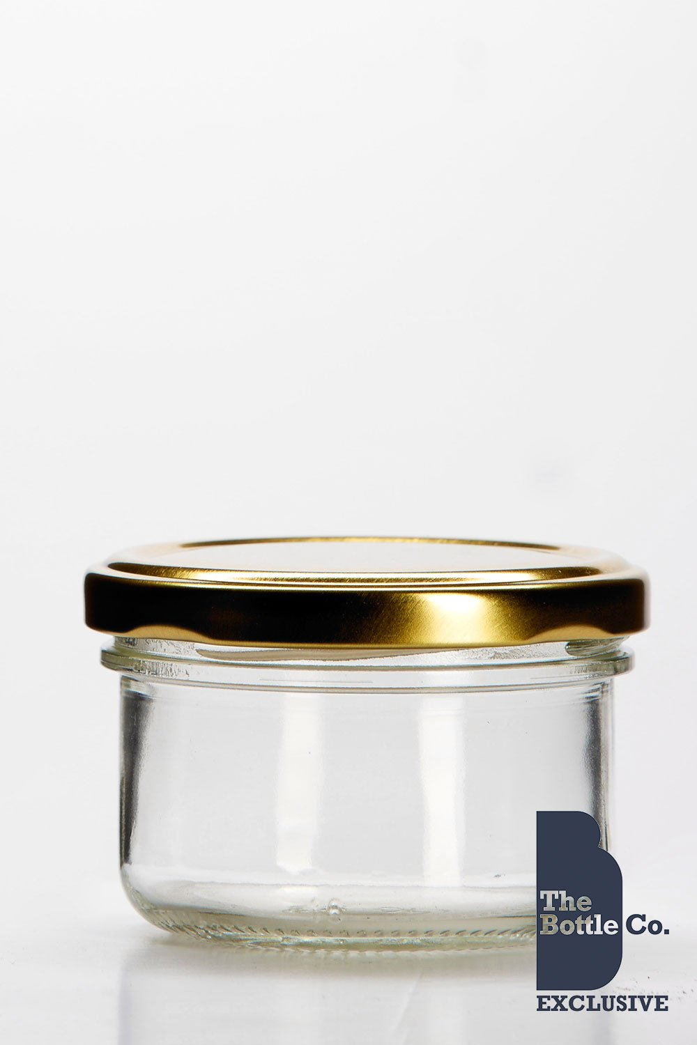 BOTTLE COMPANY 60 X 4OZ/120ML APPROX ROUND VERRINE GLASS JAM JARS ...