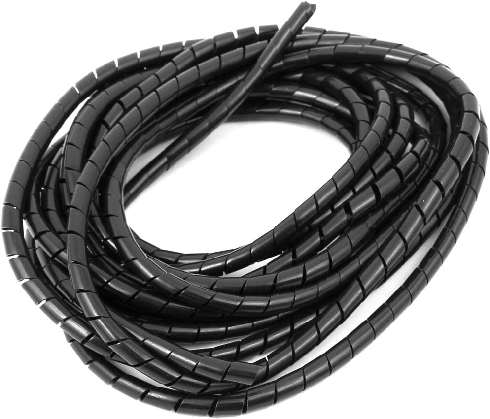Black4 1 Pc Tidy Spiral Cable Wire Wrap Cord Protector Wire Storage Pipe
