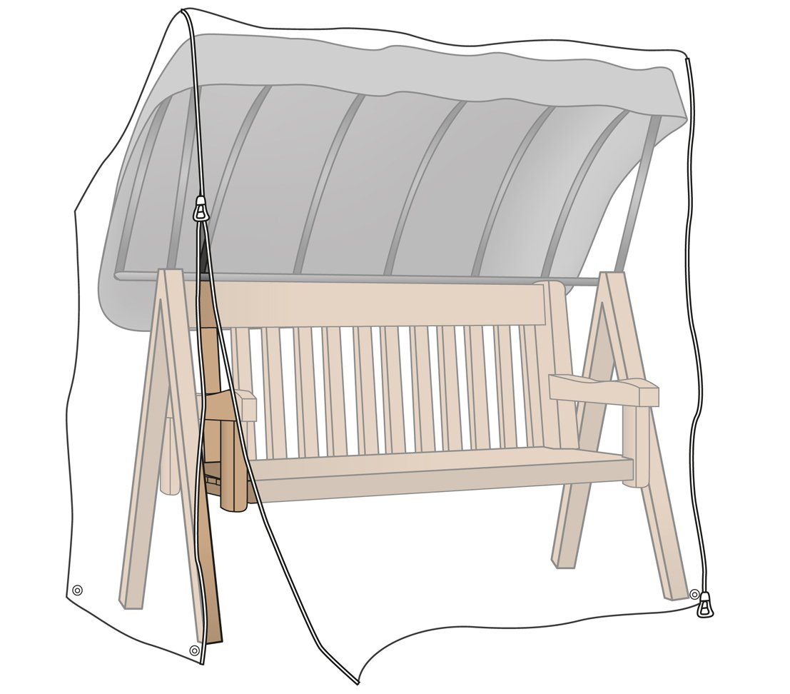 Dehner Protective Cover for Garden Swing Bench Approx. 215 x 150 x 155 cm Polyethylene - Transparent 2804664