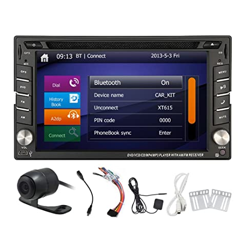 Automotive Parts GPS unidad principal Autoradio DVD Multimedia radio auto 2 DIN en el tablero de