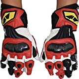 Sdcvopl Protective Gloves Motorcycle Protective Gloves Cycling Mountain Bike Men Gloves for Motorbike Cycling Racing Ventilation (Color : Red, Size : M)