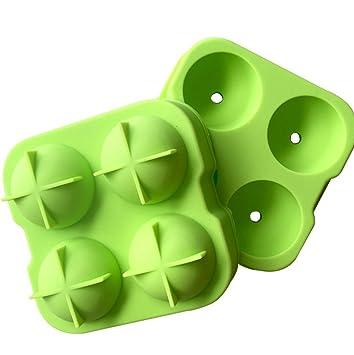 Aloiness - Molde de silicona flexible para cubitos de hielo, color verde: Amazon.es: Hogar