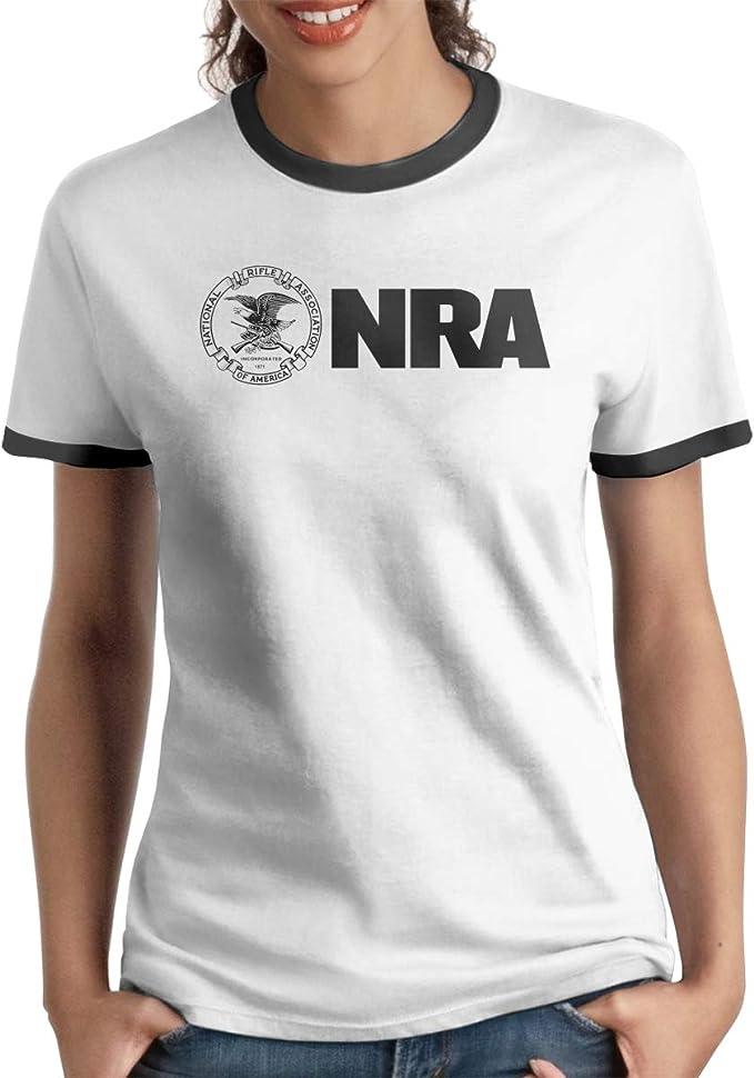 Queen Elena National Rifle Association - Camiseta de Manga Corta y Camiseta de Manga Corta para Pareja, Color Negro Negro Negro (L: Amazon.es: Ropa y accesorios