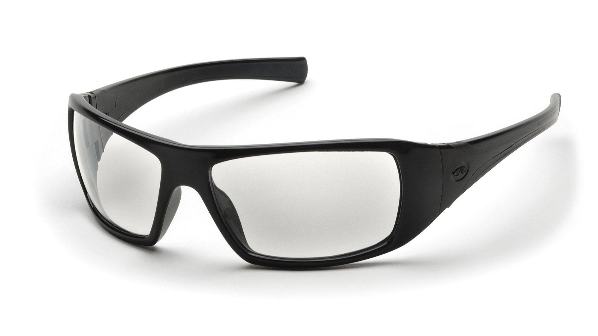 Pyramex Goliath Safety Eyewear, Black Frame, Clear Anti-Fog Lens