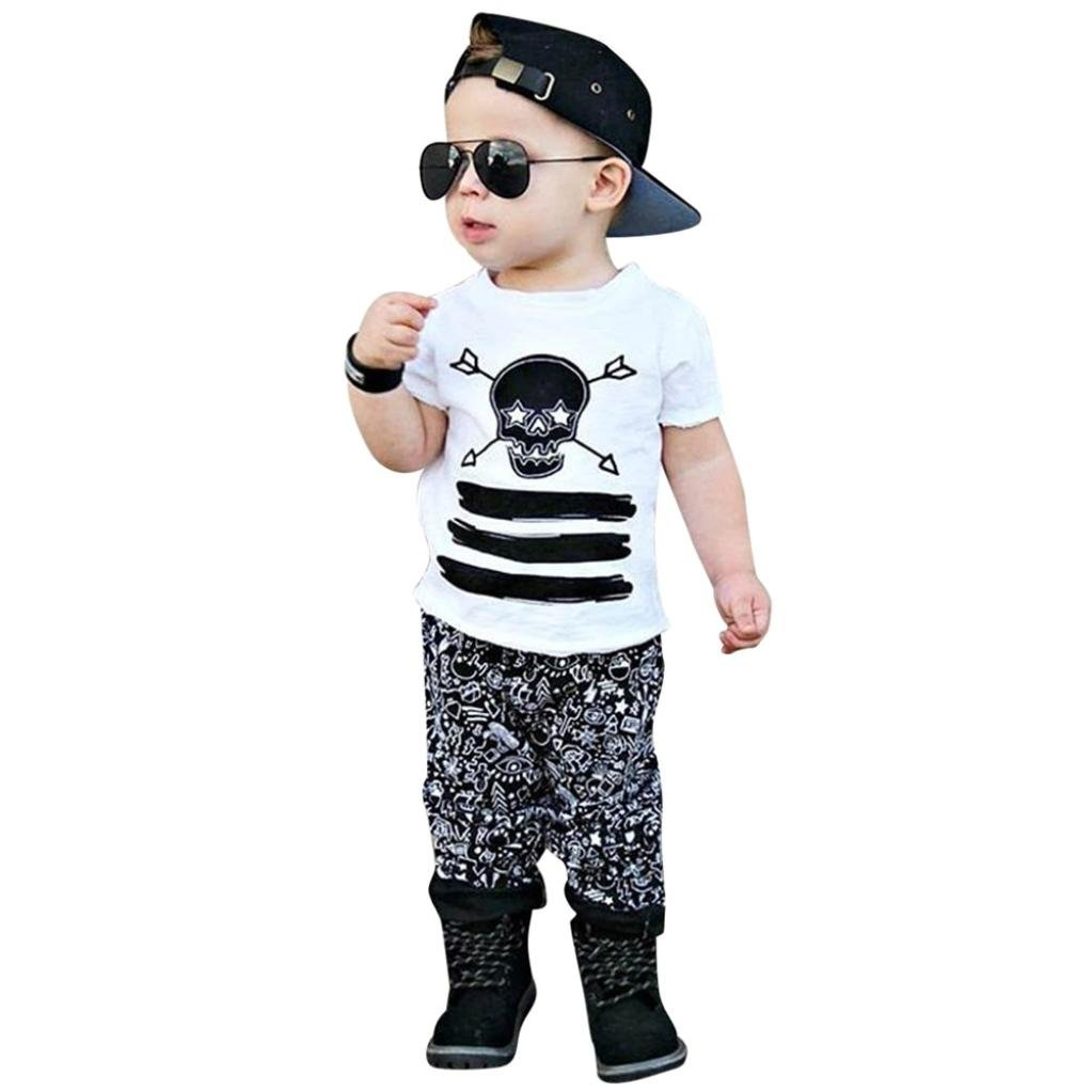 TIFENNY Boys Letters Like a Boss Printed Casual T-Shirt+Trousers Set 3M-5T