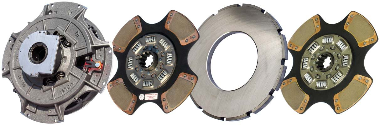 IATCO 107050-59-IAT 14'' x 2'' Angle Spring Clutch (Two-Plate, 4-Paddle / 8-Spring, 3200 Plate Load / 1400 Torque, Super-Duty) by IATCO