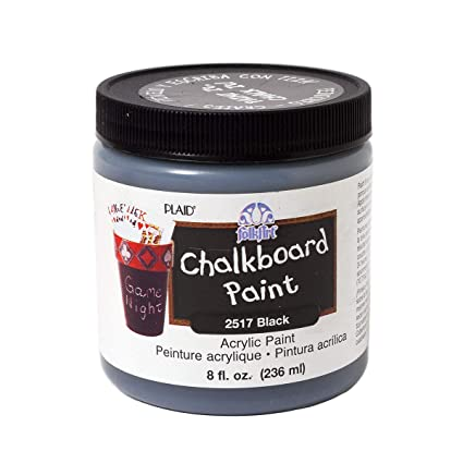 Plaid:Craft FolkArt - Pintura para Pizarra, Negro, 8-Ounce ...