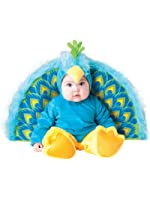 InCharacter Furry Blue Precious Peacock Baby Costume