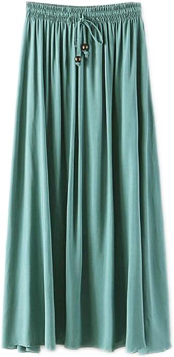 Falda Larga Mujer Cintura Larga Camiseta Maxi Faldas Pasto ...
