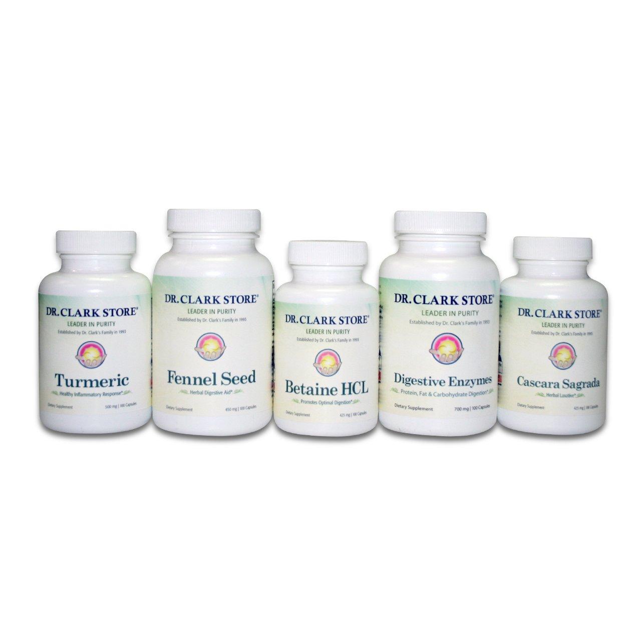 Amazon.com: Dr. Clark Digestive Aid Cleanse - Digestive Detox - Colon  Cleanse: Health & Personal Care