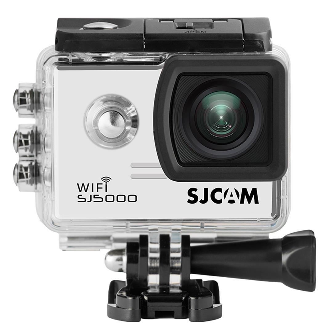 「SJCAM正規品」SJ5000 WiFi搭載(2インチ,PANASONIC MN34110 SENSOR)1080P HD出力 30m防水 170度広角 タイムラプス レンズ スポーツカメラ マリンスポーツやウインタースポーツに 必須! バイクや自転車、カートや車に取り付け可能なスポーツカメラ HD動画対応 コンパクトカメラ  ホワイト B01JEO4CN8