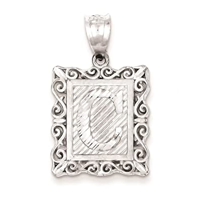Fine Jewelry 925 Sterling Silver Diamond Cut Small #6 Solid Charm Pendant Jewelry & Watches