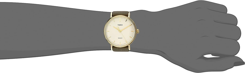 Timex Weekender Fairfield Montre pour femme 37mm Bracelet à glisser Olive/Cream