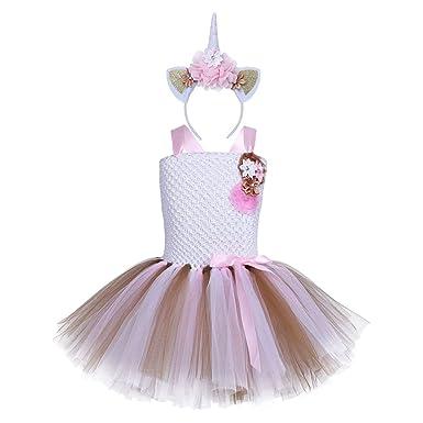 Wunderschones Kinder Madchen Einhorn Blumen Ballettkleid Tutu