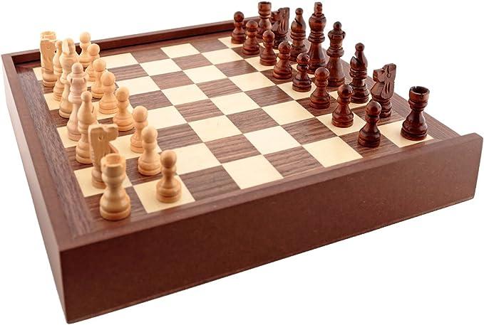 Aquamarine Games - 6 Juegos clásicos: ajedrez, Damas, Backgammon, oca, parchís, Escalera (CP030): Amazon.es: Juguetes y juegos