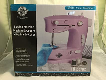 Loops & Threads 10 Piece Sewing Machine in Purple (Purple)