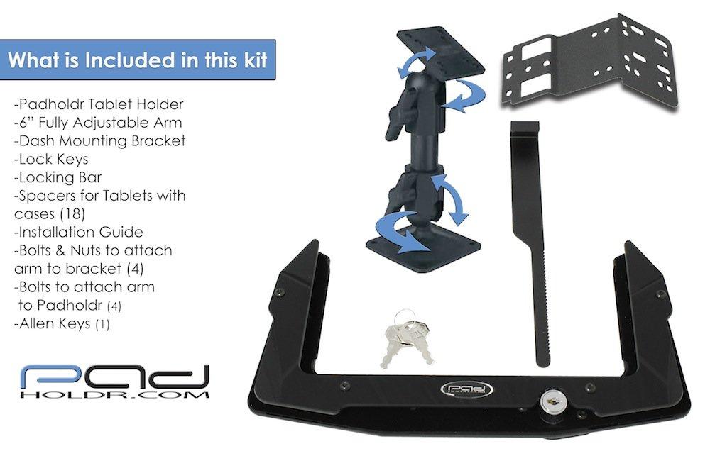 Padholdr Utility Series Premium Locking Tablet Dash Kit for 2006-2013 Kenworth Models by PADHOLDR (Image #4)