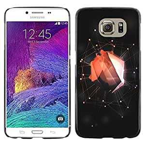 LECELL -- Funda protectora / Cubierta / Piel For Samsung Galaxy S6 SM-G920 -- Abstract Red Web --