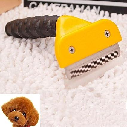 Cepillo para perros y gatos con pelo largo y corto, reduce la pérdida de cabello