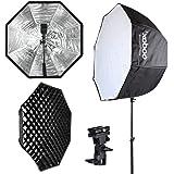 "PIXEL Godox 32""/ 80cm Umbrella Octagon Softbox Reflector with Carrying Bag + Honeycomb Grid for Studio Photo Flash Speedlight"