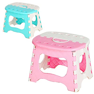 Kids Multicolour Foldable Stepping Stool Heavy Duty Folding Stool for Kitchen Garden Bathroom: Kitchen & Dining