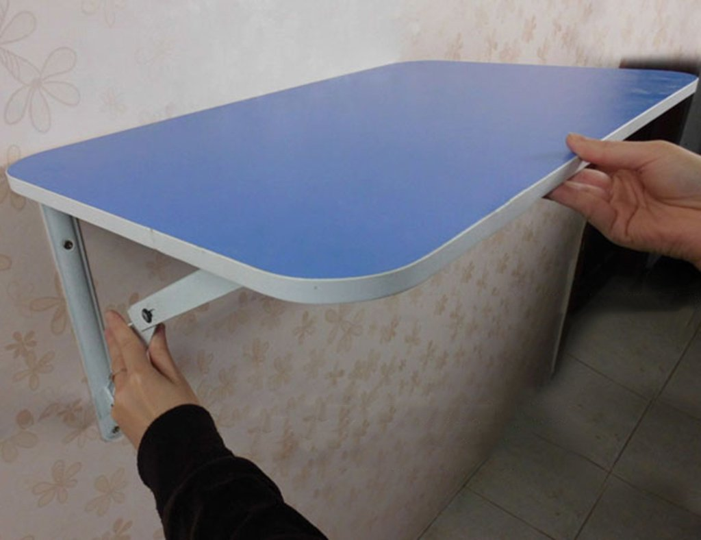 クリエイティブフォールディング壁掛けダイニングテーブル3色オプション ( 色 : 青 , サイズ さいず : 60*40cm ) B07B3NSDL3 60*40cm|青 青 60*40cm