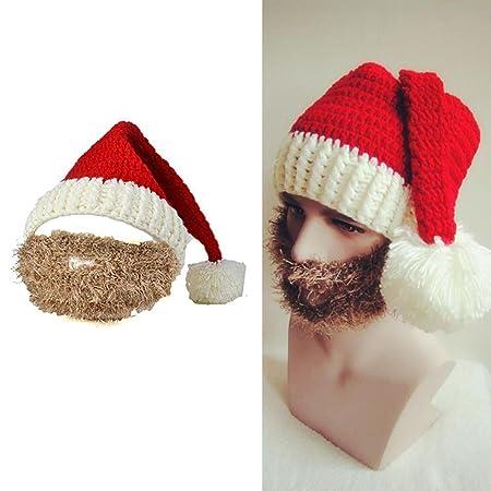 90e7260f0c5 BENHAI 1PC vogue winter Christmas knit Santa Claus beanie hats men ski skull  face mask beard hat for man women Christmas gift  Amazon.co.uk  Kitchen    Home