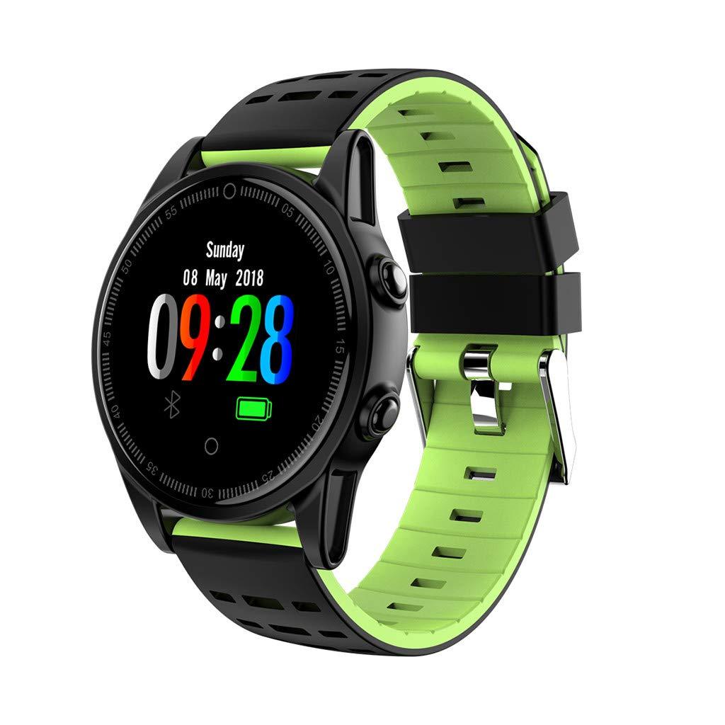HHmei Smart Watch Sports Fitness Calorie Heart Rate Tracker Pedometer Watch IP67 R13 Smart Watch (Green)