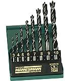 Mannesmann M54308 - Juego de 8 brocas para taladro de madera profesional
