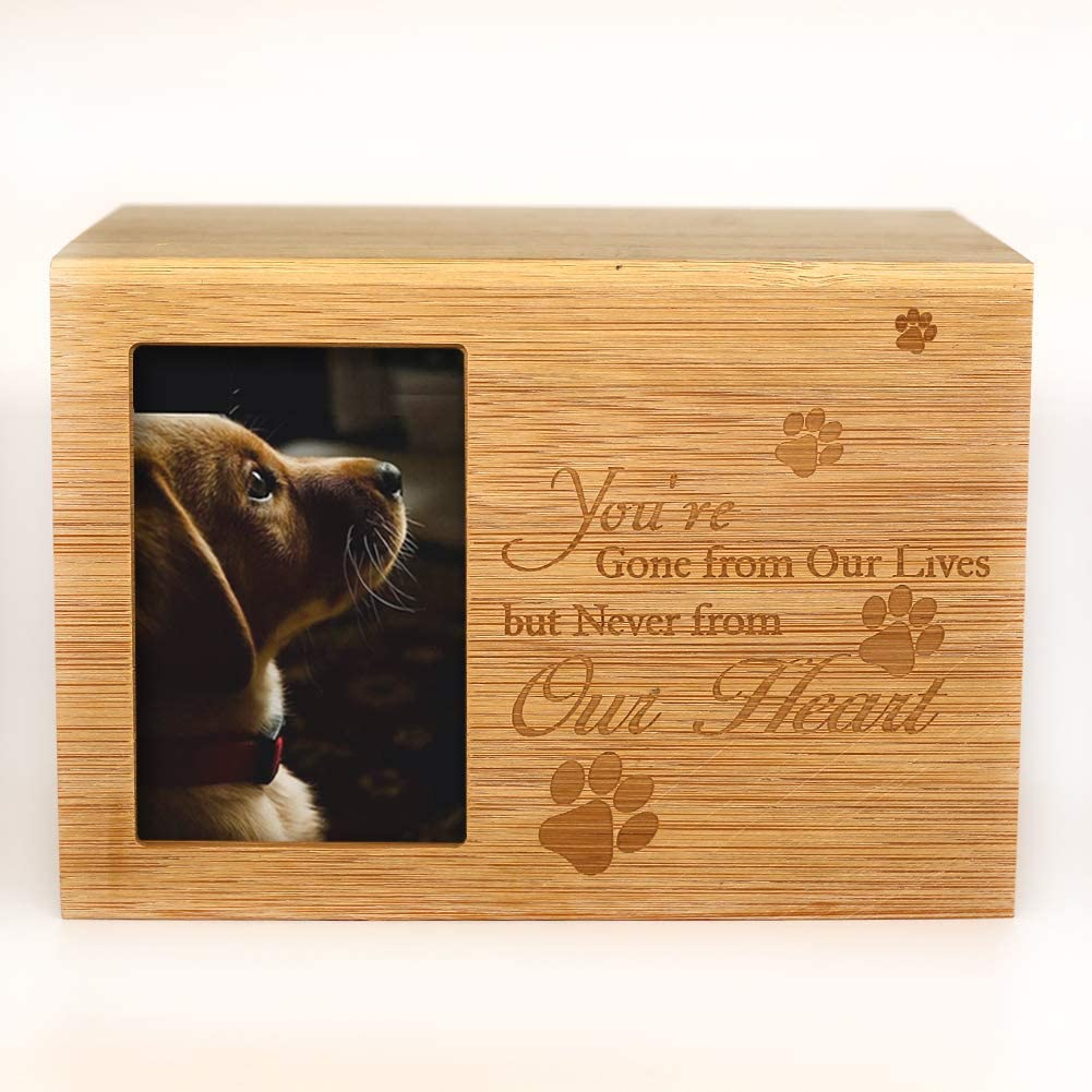 Pet Memorial Box Wood Urn Pet Cremation Urn Black Urn for Dog Dog Memorial Gift Wooden Pet Urn Pet Cremation Box Dog Bone Wood