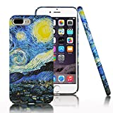 iPhone 7 Plus Case,CLOUDS [Famous Paiting Series] Smooth Premium Durable Hard PC Funny 3D Flowing oil painting case with a free screen protector-The Starry Night Van Gogh