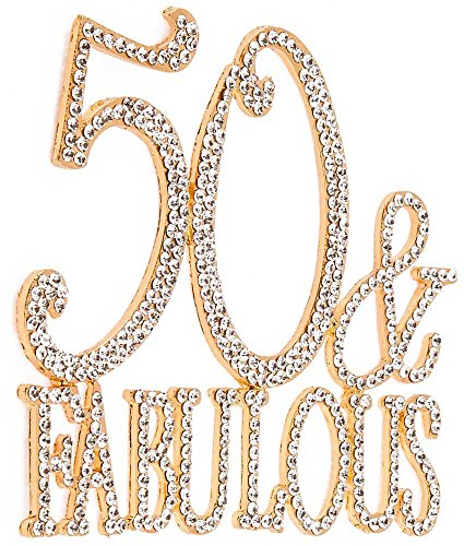 50 & Fabulous, Birthday Cake Toppers, Crystal Rhinestones - Cake Toppers For Birthdays